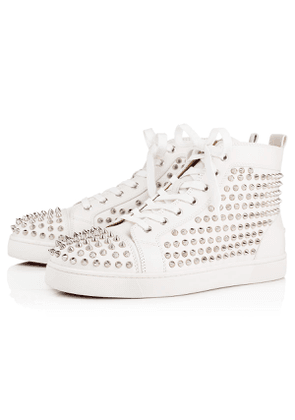 Christian Louboutin Louis Calf/Spikes LATTE/SILVER Calf - Men Shoes