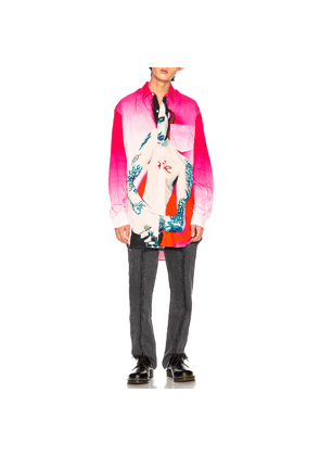 VETEMENTS Marilyn Manson Shirt in Abstract,Pink