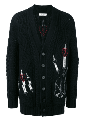 Valentino embroidered cardigan - Black