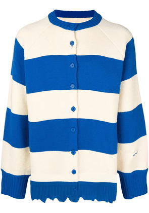 Ader Error striped cardigan - White