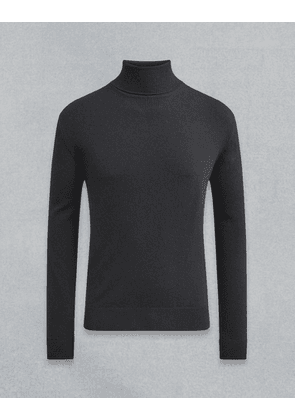Belstaff Engineered Roll Neck Black