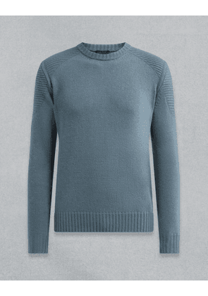 Belstaff Southview Knitted Jumper Blue