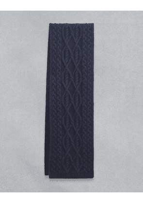 Belstaff Irish Cable Scarf Blue