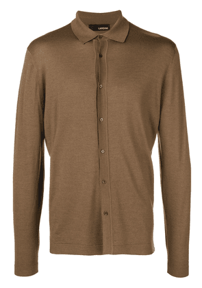 Lardini front buttons cardigan - Brown