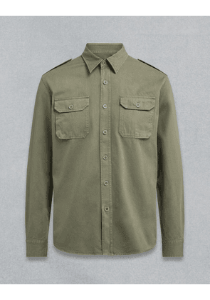 Belstaff Officer Shirt Green