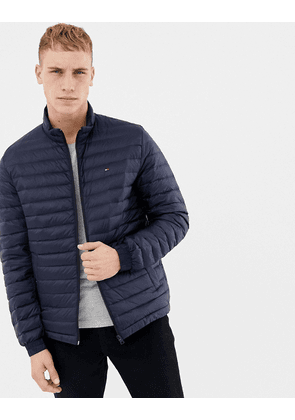ea268229 Tommy Hilfiger lightweight down packable puffer jacket flag logo in navy -  Sky captain