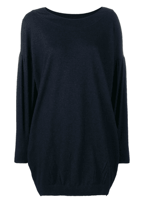 Cotélac oversized round neck jumper - Blue