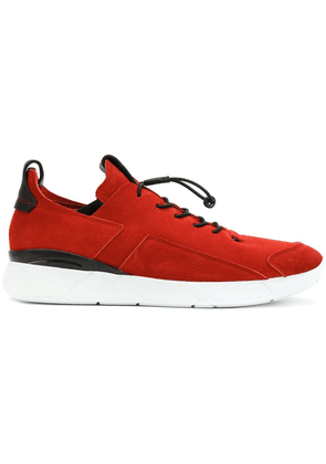 Enso elasticated lace-up sneakers - Red
