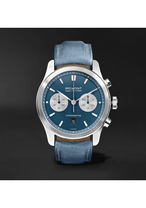Bremont - Zurich Chronograph 42mm Dlc-coated Stainless Steel And Kevlar Watch - Blue