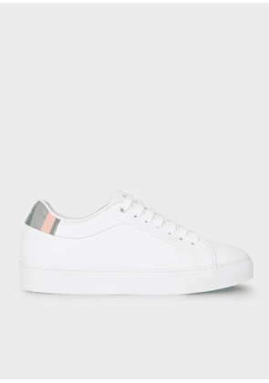 Women's White Leather 'Basso' Trainers With 'Swirl' Trims