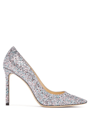 0e3014718 Jimmy Choo gold Romy 100 glitter leather pumps | MILANSTYLE.COM