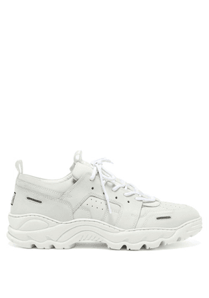 Ami - Running Lucky 9 Panelled Nubuck Trainers - Mens - White