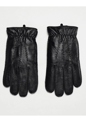 Dents Deerhurts leather gloves with faux fur lining