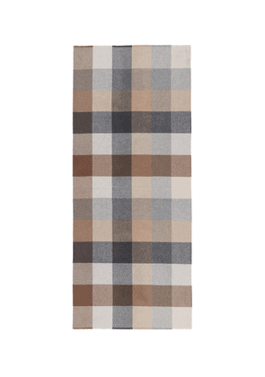 'Brodick Busby' gingham check cashmere scarf