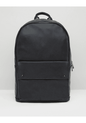 ASOS Backpack With Stud Fastening - Black