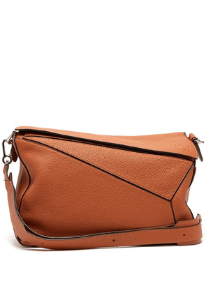 Loewe - Puzzle Extra Large Grained Leather Bag - Mens - Brown