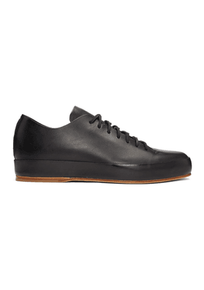 Feit Black Hand Sewn Low-Top Sneakers