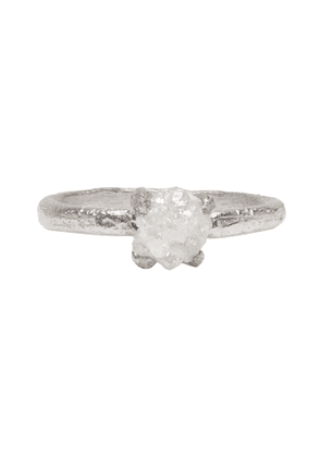 Pearls Before Swine Silver Raw Diamond Ring