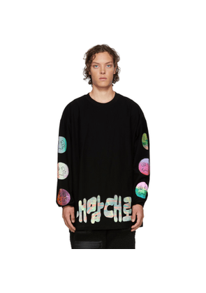 99% IS Black Handmade Silkscreen Long Sleeve T-Shirt