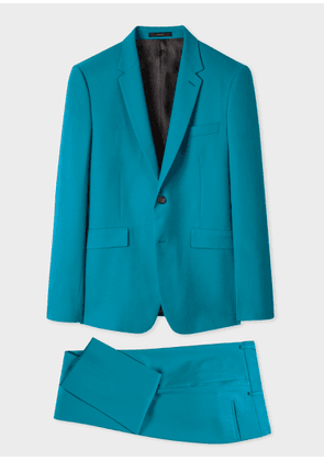 The Kensington - Men's Slim-Fit Turquoise Wool 'A Suit To Travel In'