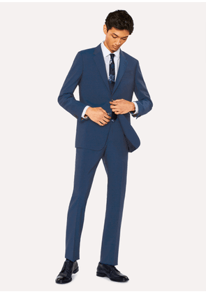 Men's Tailored-Fit Prussian Blue Wool-Mohair Suit