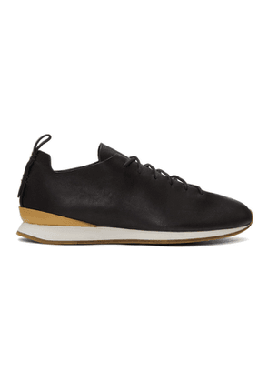 Feit Black Leather Runner Sneakers