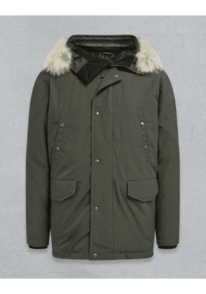 Belstaff Meadwell Parka With Fur Green UK 46 /