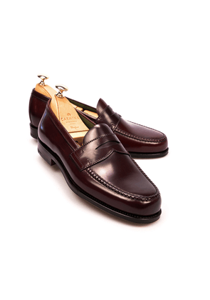 Carmina Burgundy Cordovan Leather Penny Loafers