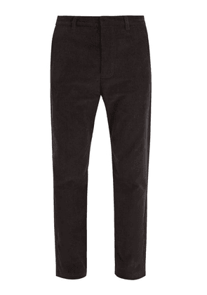 Fanmail - Straight Leg Corduroy Trousers - Mens - Black