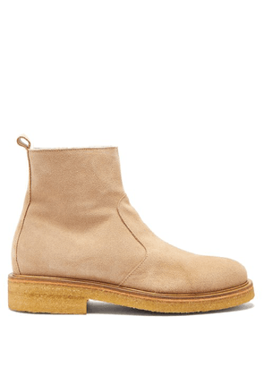 Ami - Suede Ankle Boots - Mens - Beige