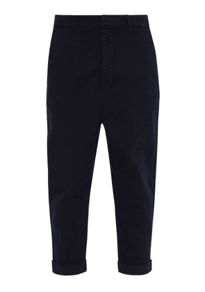 Ami - Oversized Chino Trousers - Mens - Navy