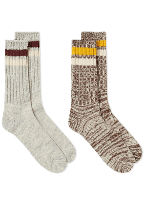 Anonymous Ism Mix Line Crew Sock - 2 Pack Assorted
