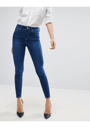 ASOS Ridley High Waist Skinny Jeans In Astral Deep Blue - Astral blue