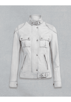 Belstaff Gangster Leather Jacket White UK 6 /