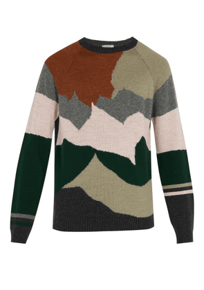 Lanvin - Intarsia Knit Wool And Cashmere Blend Sweater - Mens - Multi