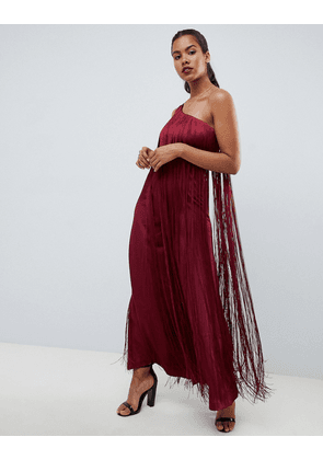 a555824e5934 ASOS DESIGN occasion jumpsuit with one shoulder and fringing
