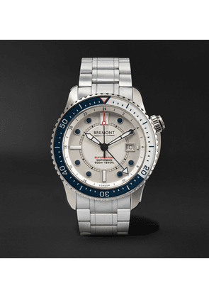 Bremont - Supermarine Waterman Limited Edition Automatic 43mm Stainless Steel And Kevlar Watch - White