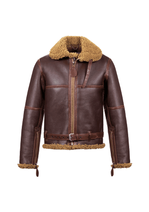 Aero Leather Clothing Russet Brown RAF 'Battle Of Britain' Shearling Bomber Jacket