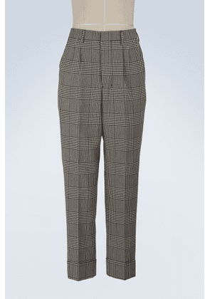 Carrot trousers with pleats