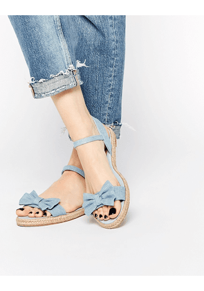 ASOS JUNO Espadrille Bow Sandals - Chambray