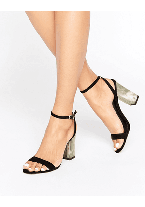 ASOS HUE Heeled Sandals - Black