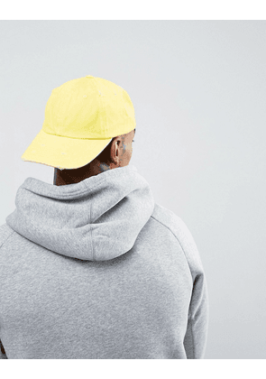 ASOS Baseball Cap In Washed Yellow - Yellow