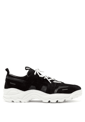 Ami - Running Lucky 9 Suede Trainers - Mens - Black