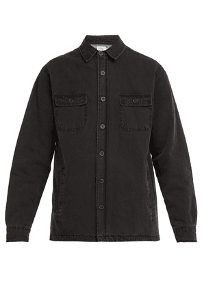 Faherty - Blanket Lined Cpo Cotton Overshirt - Mens - Black