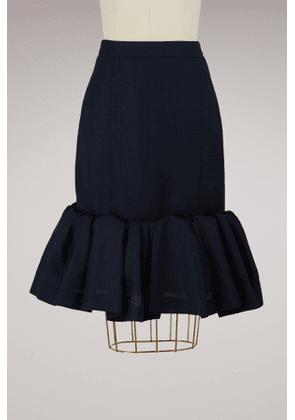 Wool skirt with