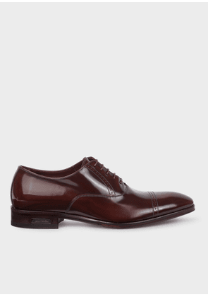 Men's Burgundy Patent Leather 'Lord' Oxford Shoes