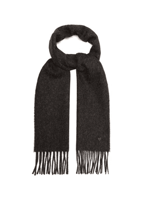 Ami - Virgin Wool Scarf - Mens - Grey