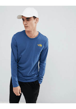 089d7581d The North Face Long Sleeve Easy T-Shirt in Blue   Blue   MILANSTYLE.COM