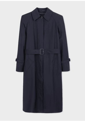 Women's Navy Loro Piana Storm System® Wool Mac With Detachable Liner