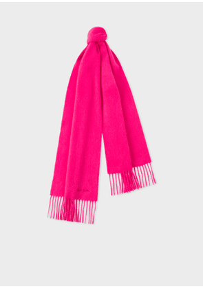 Bright Pink Cashmere Scarf